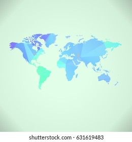 World map background blue pink paint vectores en stock 234284137 polygonal world map background gumiabroncs Choice Image