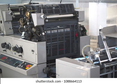 Polygraphic machine in a modern printing house