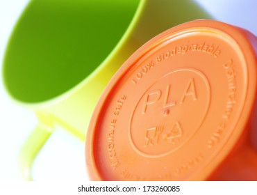 Polylactic acid (PLA, polylactide) bioplastic