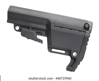Polymer stock that can be adjusted in length for an AR-15 rifle
