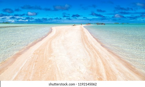 in polynesia rangiroa the pink sands of the coastline like paradise concept and relax