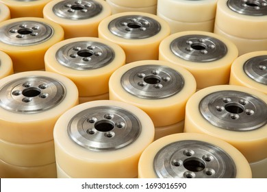 Polyurethane forklift, reach truck wheels, stacker wheels for warehouse and indoor use