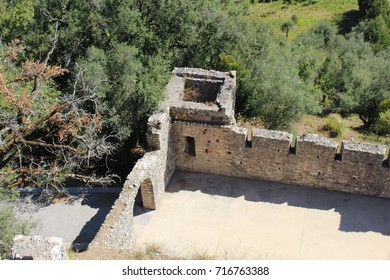 POMBAL, PORTUGAL - AUGUST 18, 2017: View of the castle of Pombal. The castle was built in 1161 by the order of the Templars