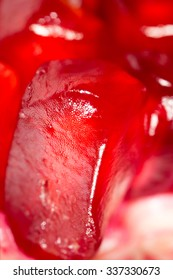 Pomegranate as a background. super macro