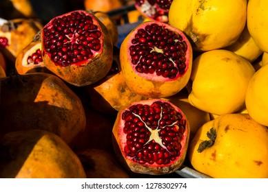 Pomegranate in the Bazar of Sulaymaniyah. Kurdistan, Iraq