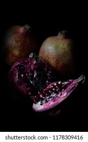 Pomegranate dark food