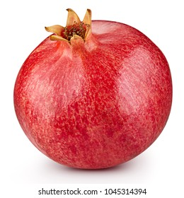 Pomegranate fruit Isolated on a white background. Clipping Path