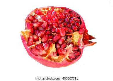 Pomegranate fruit on  a white background