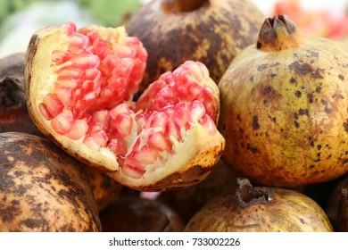 Pomegranate fruit at street food
