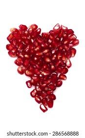 Pomegranate, Heart Shape, Healthy Lifestyle.