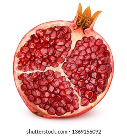 pomegranate isolated on white background, full depth of field, clipping path