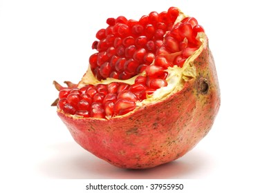 Pomegranate isolated on white background