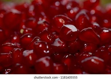 pomegranate macro close up pattern