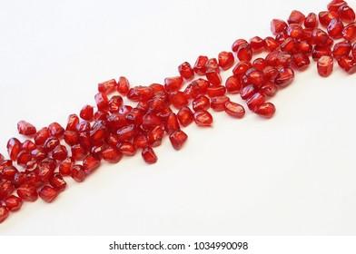 pomegranate on white background (Punica granatum)