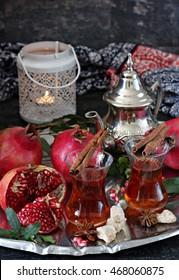 Pomegranate and tea