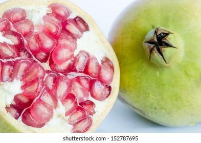pomegranate-isolated-on-white-background