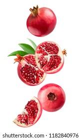 pomegranates isolated on a white background