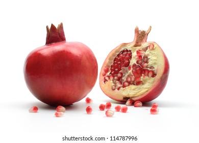pomegranates, isolated. Used for Rosh Hashana dinner