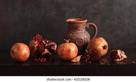 Pomegranates And Little Jug.
