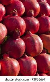 Pomegranates on display along the road in Jordan