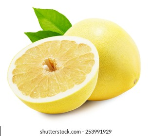 Pomelo or Chinese grapefruit isolated on the white background.