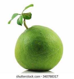 Pomelo (Citrus maxima or Citrus grandis) isolated on white background