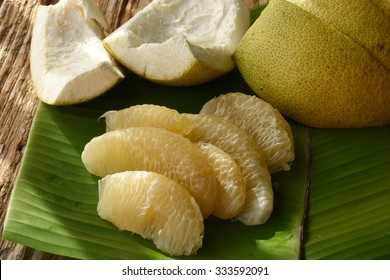 Pomelo or grapefruit. Fresh and tasty tropical fruit,  pomelo or Citrus grandis, much like the grapefruit.