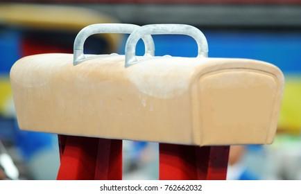 Pommel horse, apparatus used in men's artistic gymnastics