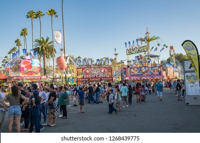 Pomona, CA: September 9, 2018: The LA County Fair is one of the largest county fairs in the United States.  Over a million people visit the LA County Fair each year.