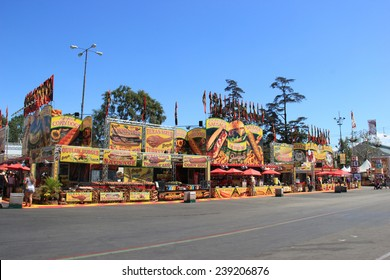 Pomona, California, USA - September 15, 2014: LA County Fair is one of the fourth largest fair in USA. It provides a place where people learn about California's heritage and enjoy traditional food.