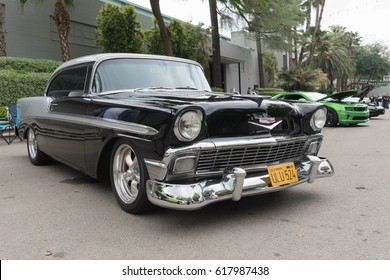 Pomona, USA - April 8, 2017: Chevrolet Bel Air on display during the Street Machine and Muscle Car at the Fairplex Exposition Complex.