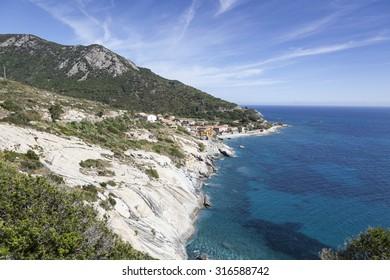 Pomonte, at the west coast of Elba, Tuscany, Italy, Europe