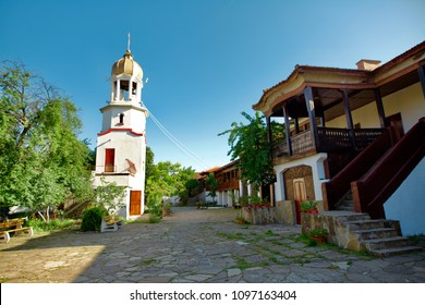 Pomorie/Bulgaria: May 2018- St. George monastery is a male Orthodox monastery in Pomorie, Bulgaria, on the Black sea.Tourism, Travel.