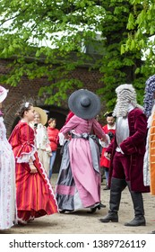 Gdańsk, Pomorskie / Poland  - 05.01.2019 : May holiday festival at  Wisłoujście fort specified for medieval reconstruction events and learning about the history of Gdańsk and northern Poland.