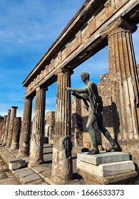 Pompei ruins of Roman structures, Italy