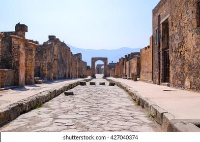 Pompei street