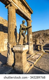Pompeii city  destroyed  in 79BC by the eruption of Mount Vesuvius
