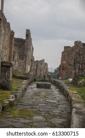 Pompeii, Italy - 3 JANUARY 2012: Ruins of Pompei.  Pompeii is an ancient Roman city died from the eruption of Mount Vesuvius in the 1st century.