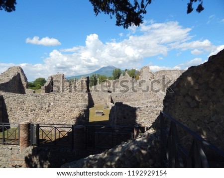 Pompeii Italy looking at