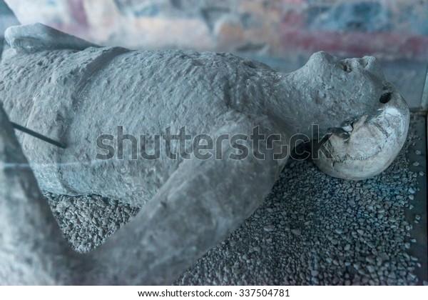 Pompeii Italy November 29 2014cast Body Stock Photo (Edit