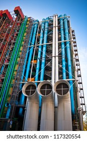 The Pompidou cultural center in Paris, France