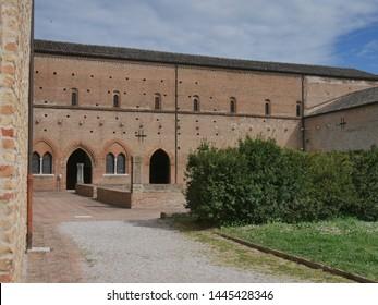 Pomposa Abbey is a Benedictine monastery built in Romanesque style on the Adriatic coast of Italy. In Pomposa Abbey Monastery the monks spent their religiosus life.