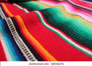 poncho Mexican background Mexico cinco de mayo blanket serape rug poncho fiesta with stripes copy space minimal simple stock, photo, photograph, image, picture