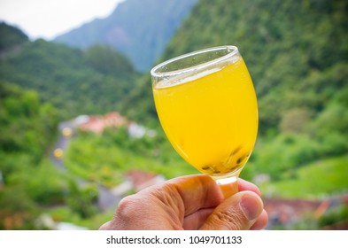 Poncho - traditional drink of Madeira, Portugal