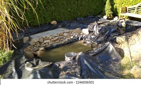 Pond Build in Garden