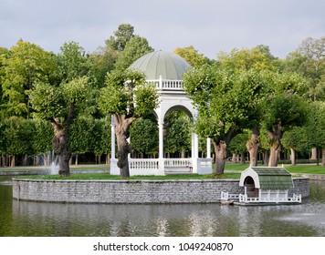 Pond with gazebo in Kadriorg park, Tallinn