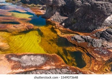 Pond in limestones on the summit of Roraima Table Mountain, La Gran Sabana, Canaima National Park, Venezuela
