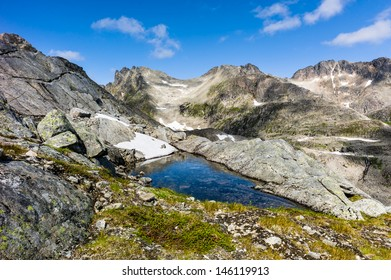 pond in the mountain