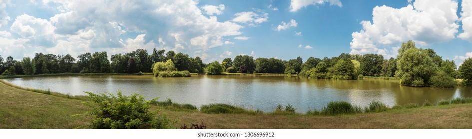 """pond near castle """"Fürstlich Drehna"""""""