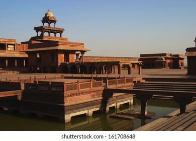 Pond in a palace, Fatehpur Sikri, Agra, Uttar Pradesh, India